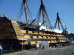 The HMS Victory, now undergoing restoration