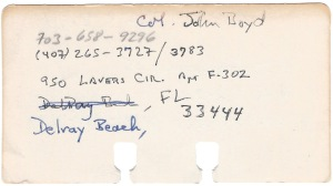 JRB Rolodex Card Reverse