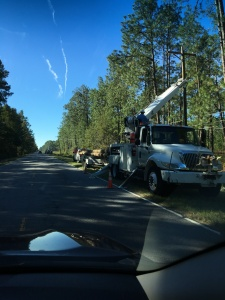 Work crew on US 321 between Estill and Hardeville, SC